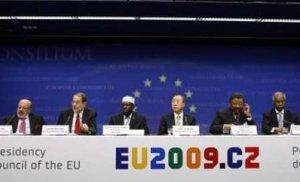 european-commissioner-louis-michel-eu-foreign-policy-chief-javier-solana-somalias-president-sheikh-sharif-united-nations-secretary-general-ban-ki-moon-african-union-commission-chief
