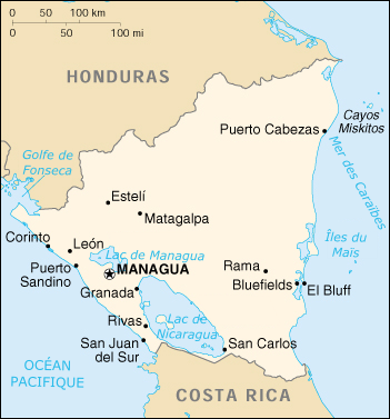 Nicaragua-carte