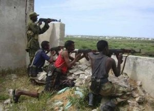 Somali government soldiers clash with Islamist insurgents in the capital Mogadishu, August, 22, 2009