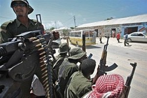 Somali government forces recaptured a key western town on the border with Ethiopia