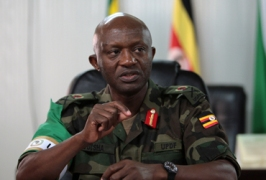 AMISOM force Commander Major General Natham Mugisha explains AMISOMS's mandate and activities on the gr