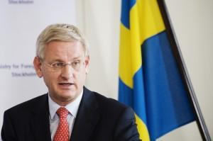 Sweden's foreign minister Carl Bildt