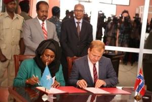 Wasiirka Norway iyo wasiiradda Somalia