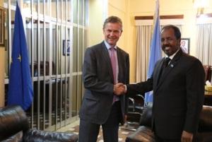 Madaxweynaha Somalia & EU