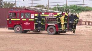 Firefighters in Somalia