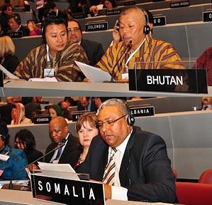 IPU Membership –Bhutanese, Somalia and Egyptian Parliaments
