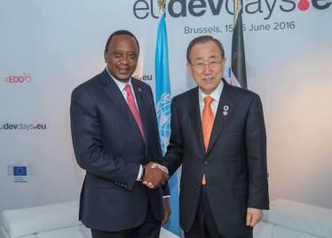 Ban Ki Moon iyo Uhuru