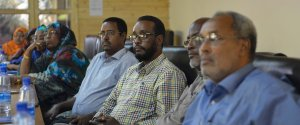 Members of the Electoral Dispute Resolution Mechanism at a consultative meeting with the Federal Indirect Electoral Implementation Team in Mogadishu, Somalia, on October 07, 2016. UN Photo / Ilyas Ahmed